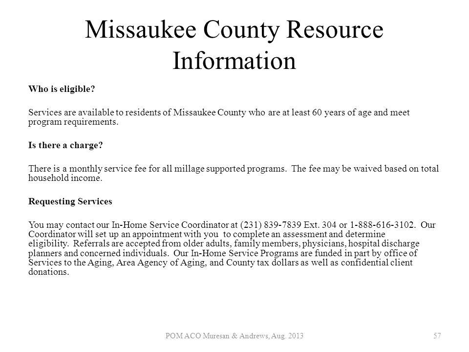 Missaukee County Resource Information