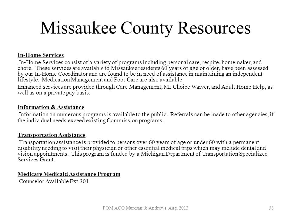 Missaukee County Resources