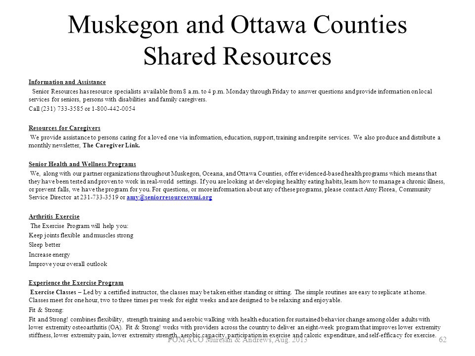 Muskegon and Ottawa Counties Shared Resources