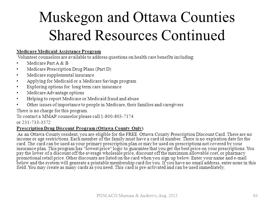 Muskegon and Ottawa Counties Shared Resources Continued