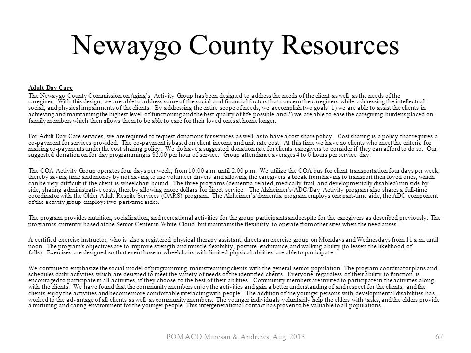 Newaygo County Resources