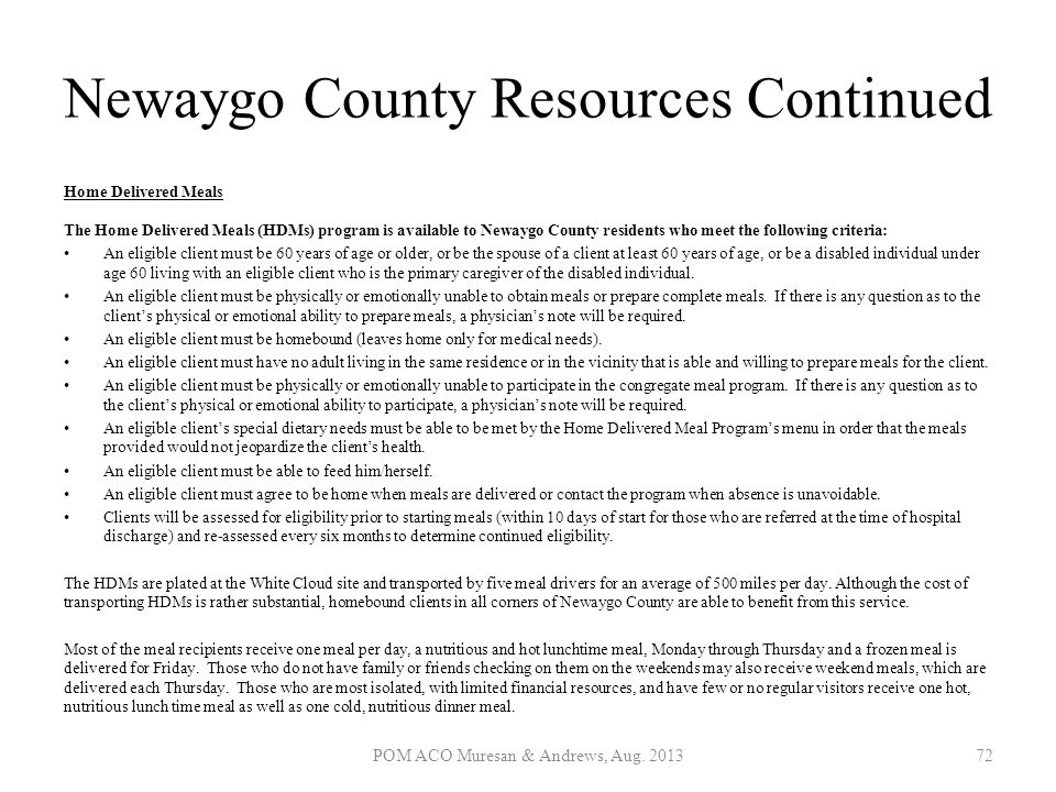 Newaygo County Resources Continued