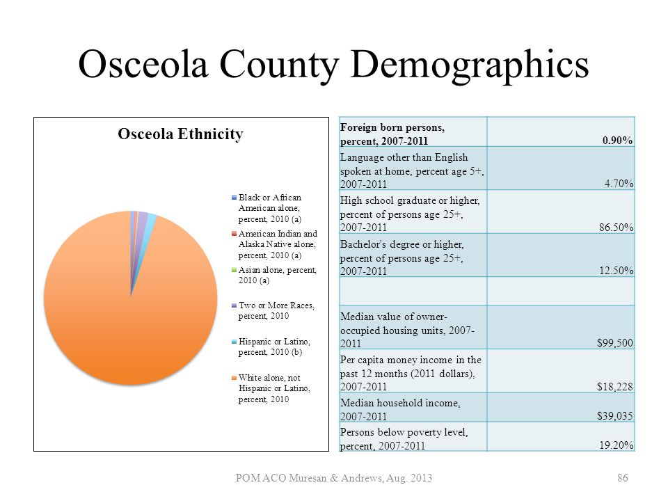 Osceola County Demographics