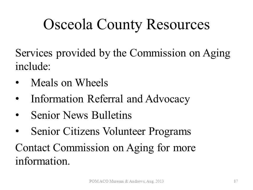 Osceola County Resources