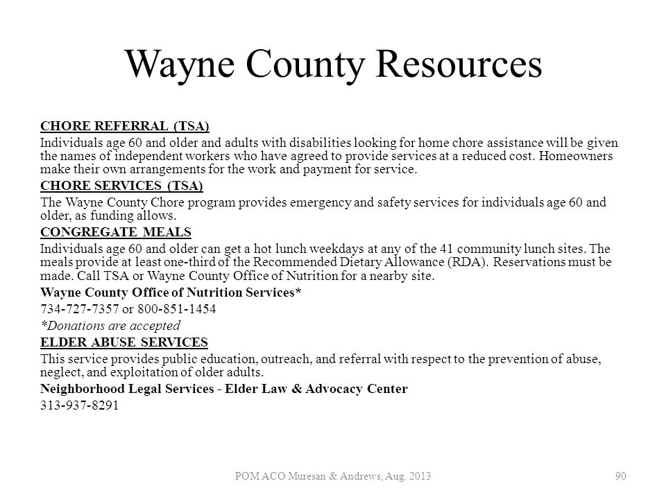Wayne County Resources