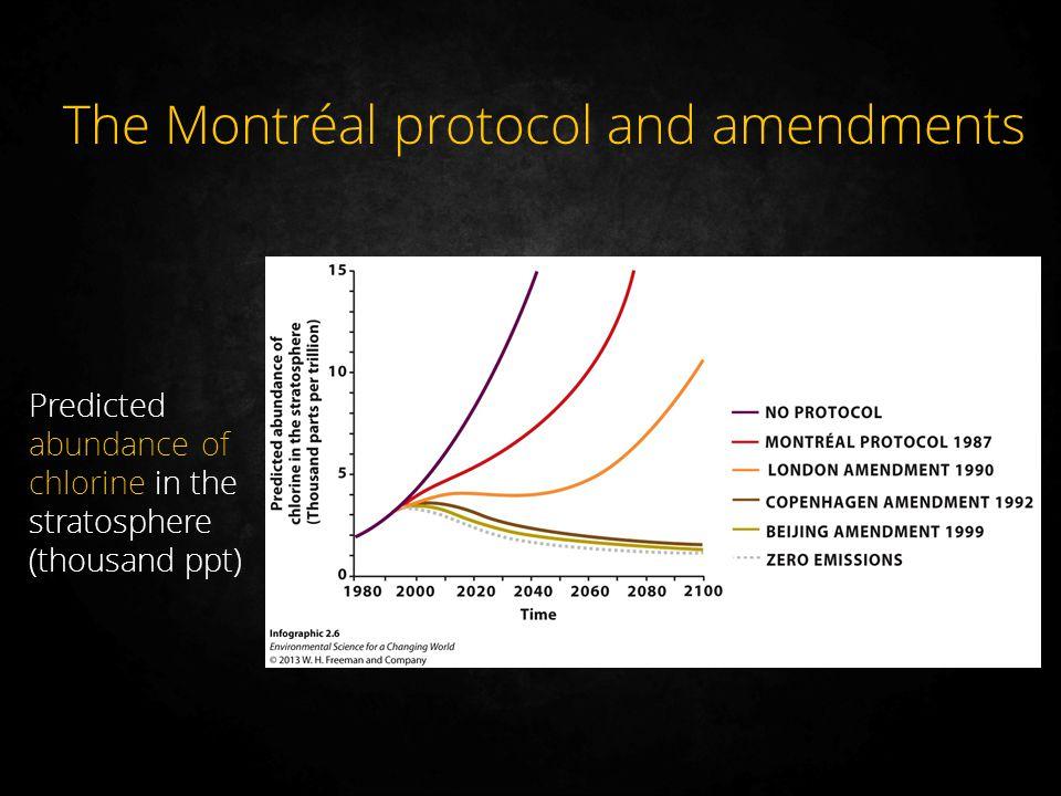 The Montréal protocol and amendments