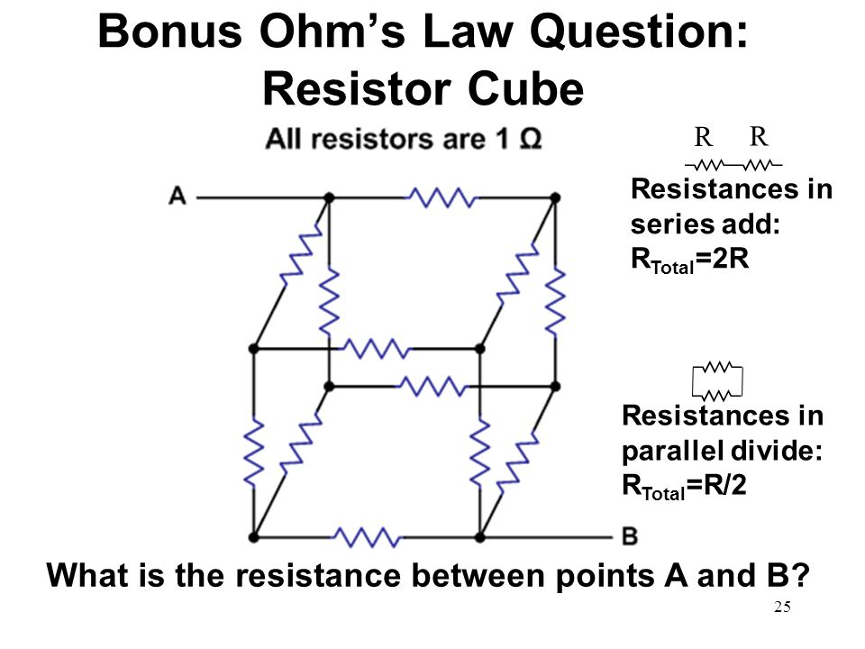 Bonus Ohm's Law Question: Resistor Cube