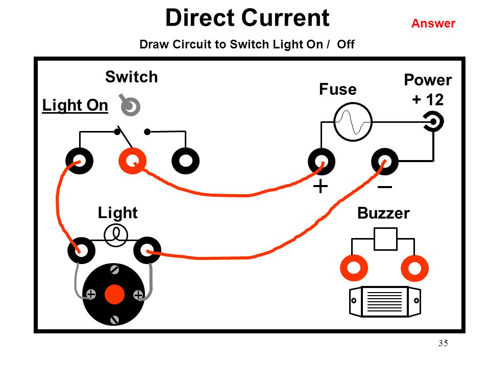 Draw Circuit to Switch Light On / Off
