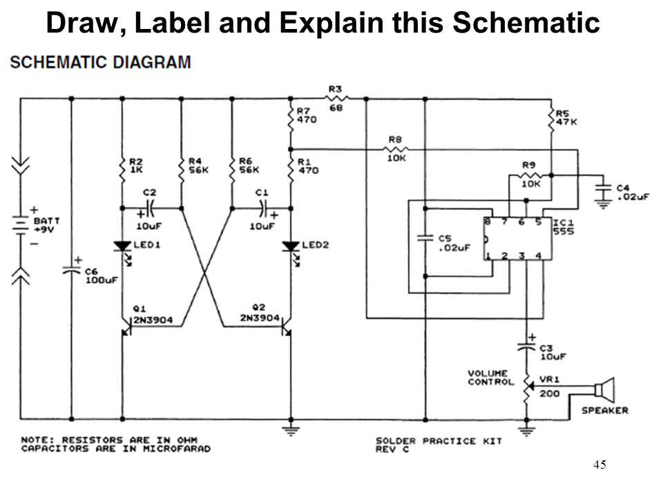 Draw, Label and Explain this Schematic
