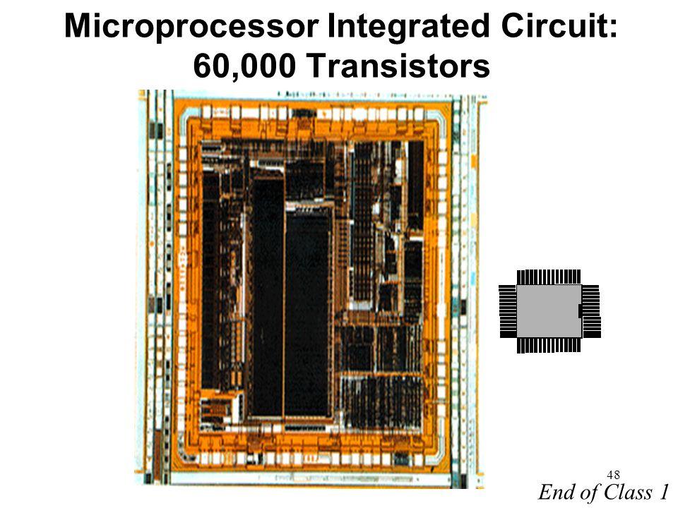 Microprocessor Integrated Circuit: 60,000 Transistors