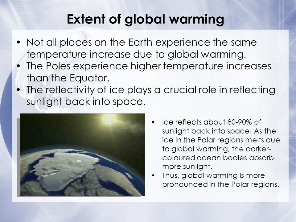 Extent of global warming