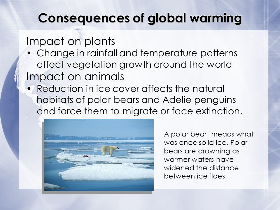 what global warming impacts the world Global warming's increasingly visible impacts authors impacts around the worldthese include global warming impacts described in.