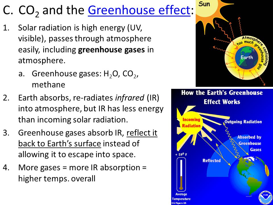CO2 and the Greenhouse effect: