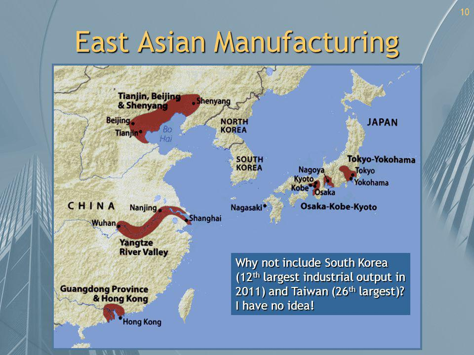 East Asian Manufacturing