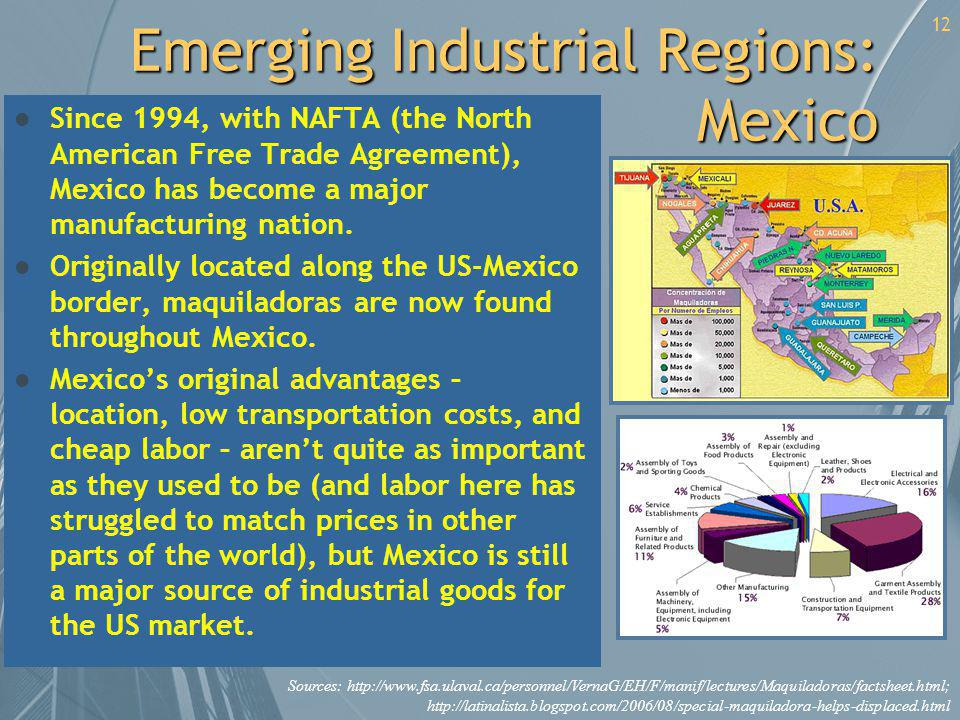 Emerging Industrial Regions: Mexico