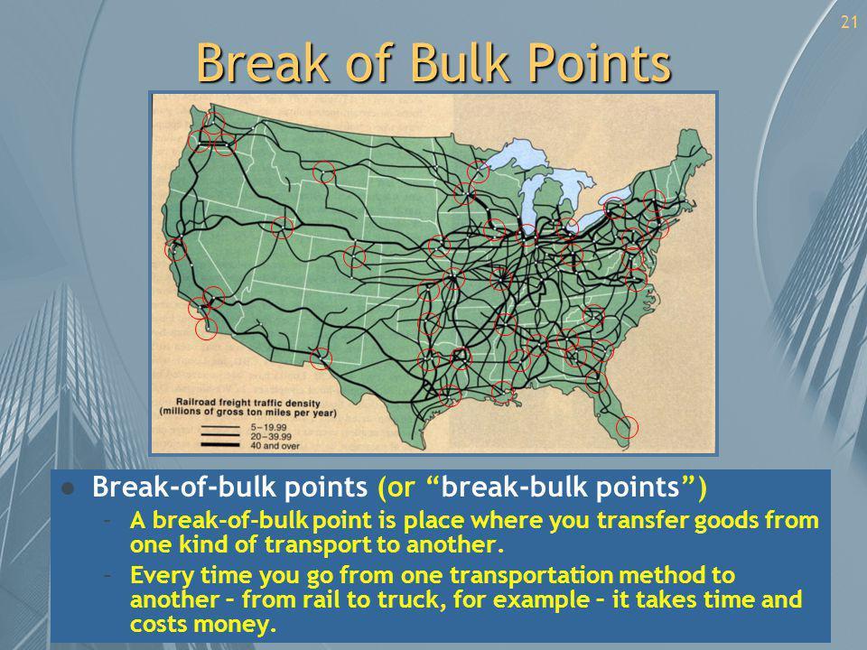 Break of Bulk Points Break-of-bulk points (or break-bulk points )