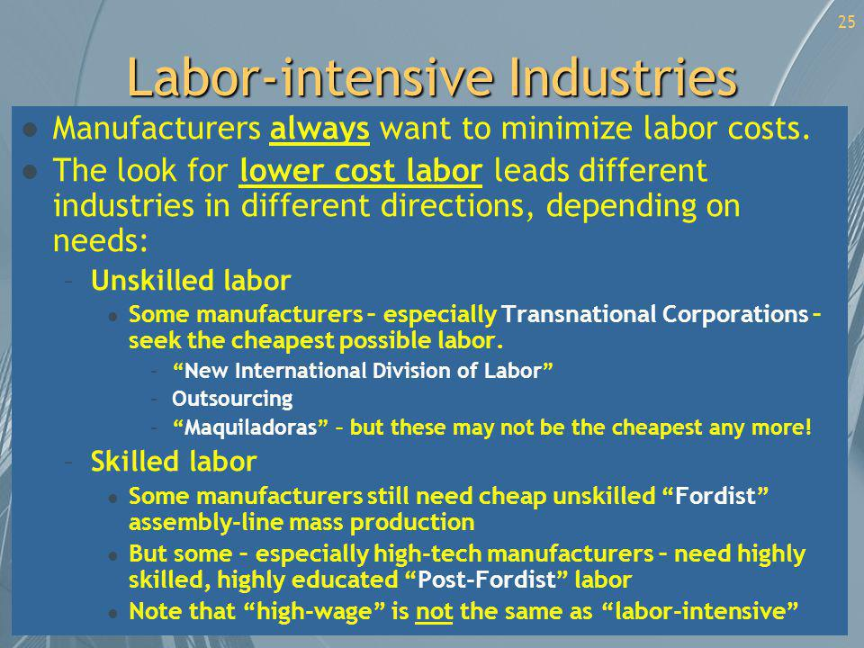 Labor-intensive Industries
