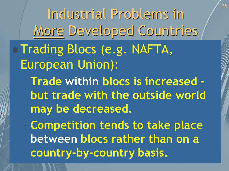 Industrial Problems in More Developed Countries