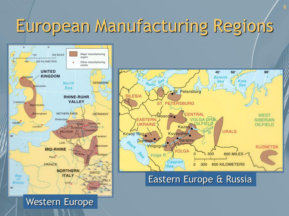 European Manufacturing Regions