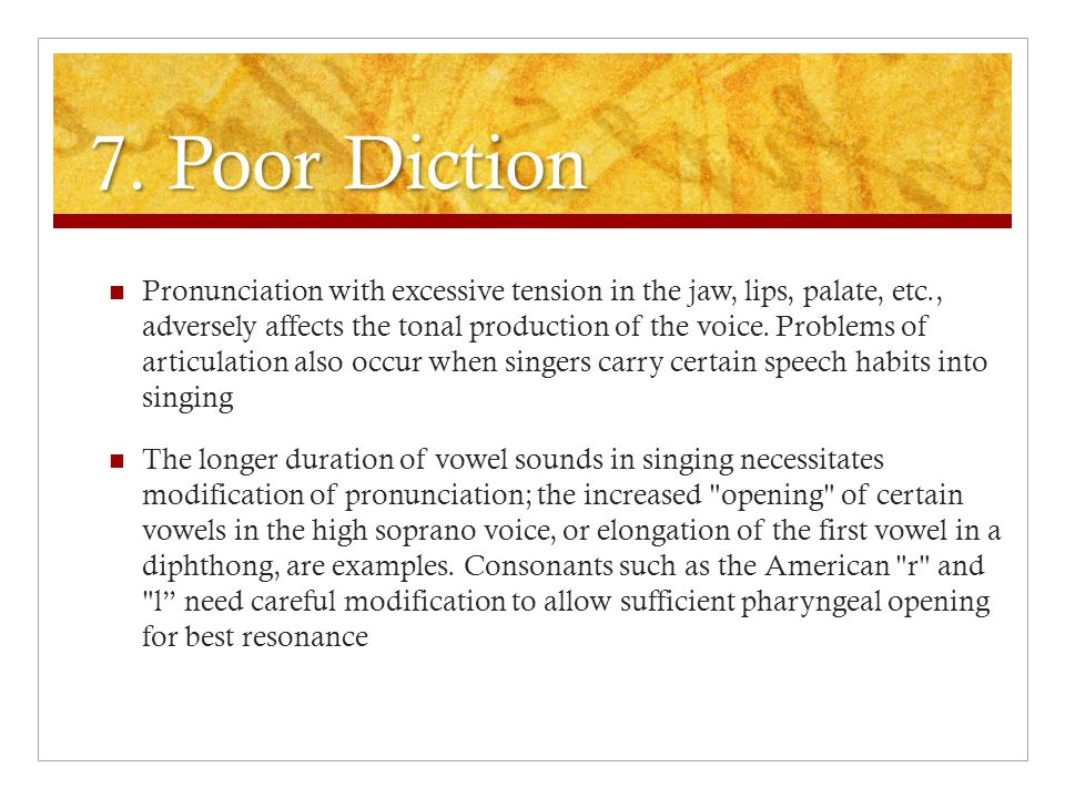 7. Poor Diction
