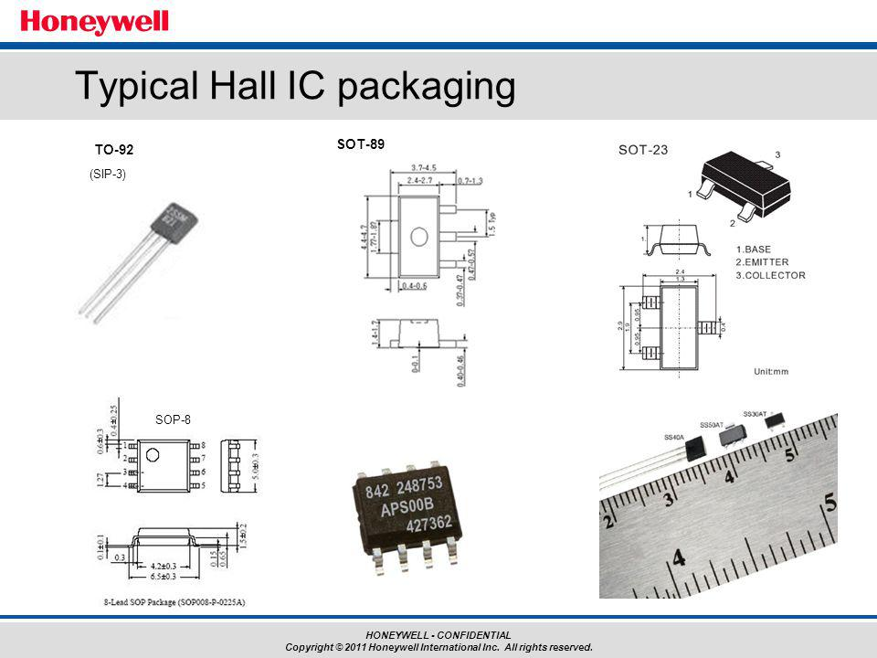 Typical Hall IC packaging