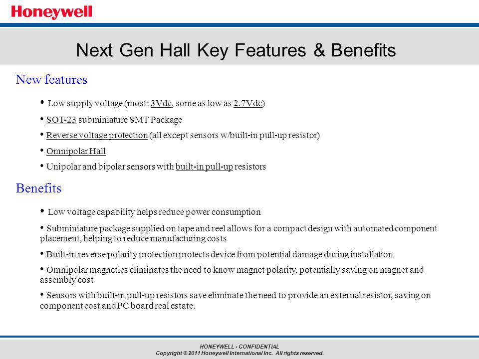 Next Gen Hall Key Features & Benefits