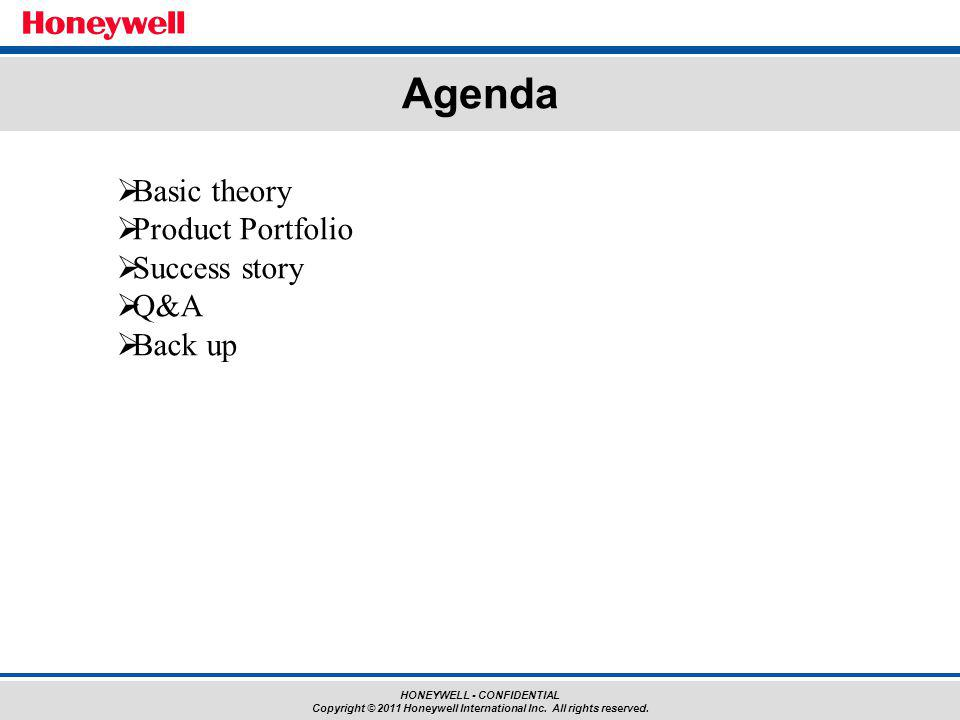 Agenda Basic theory Product Portfolio Success story Q&A Back up