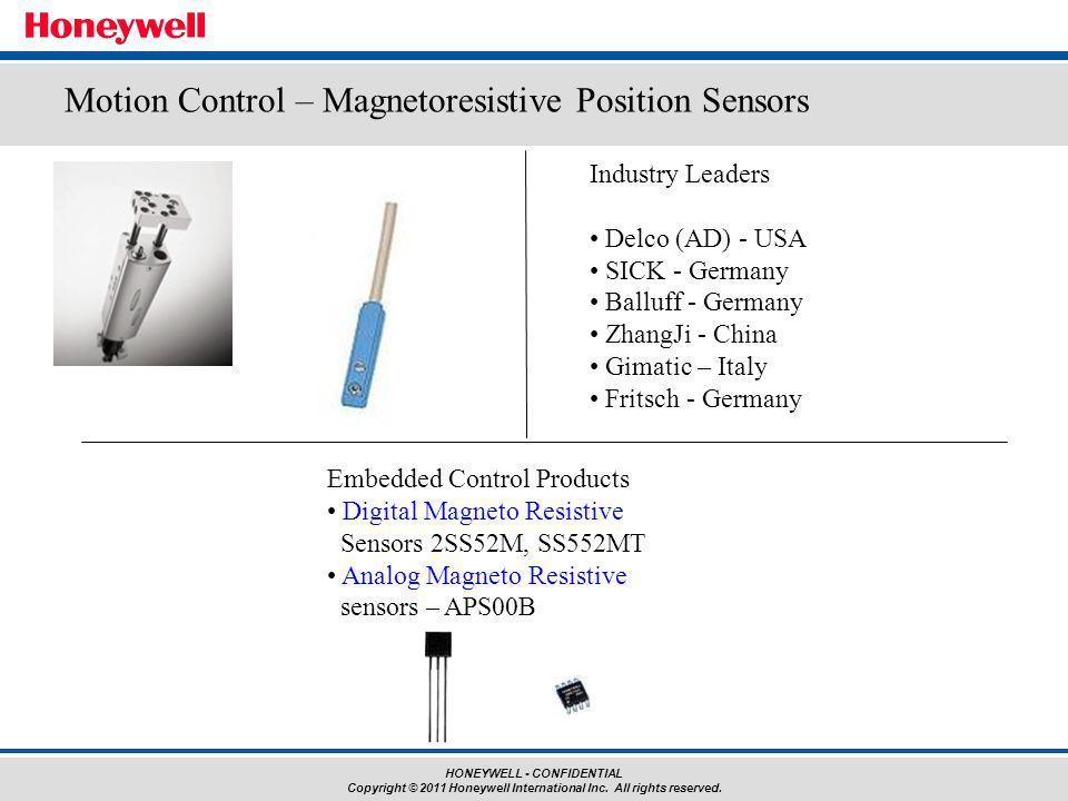 Motion Control – Magnetoresistive Position Sensors