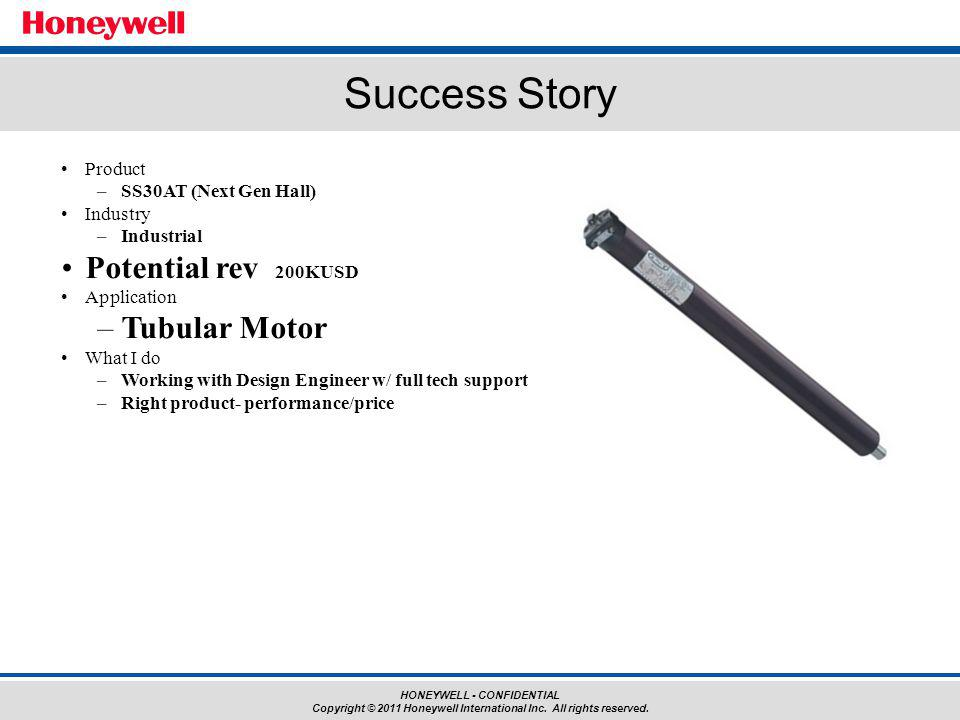 Success Story Potential rev 200KUSD Tubular Motor Product