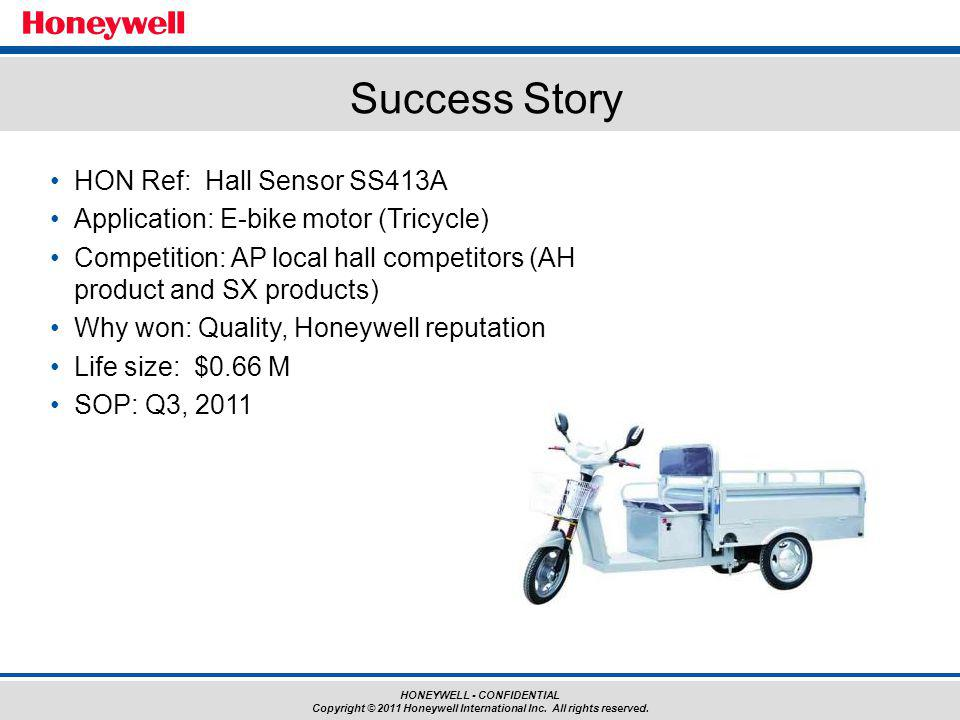 Success Story HON Ref: Hall Sensor SS413A
