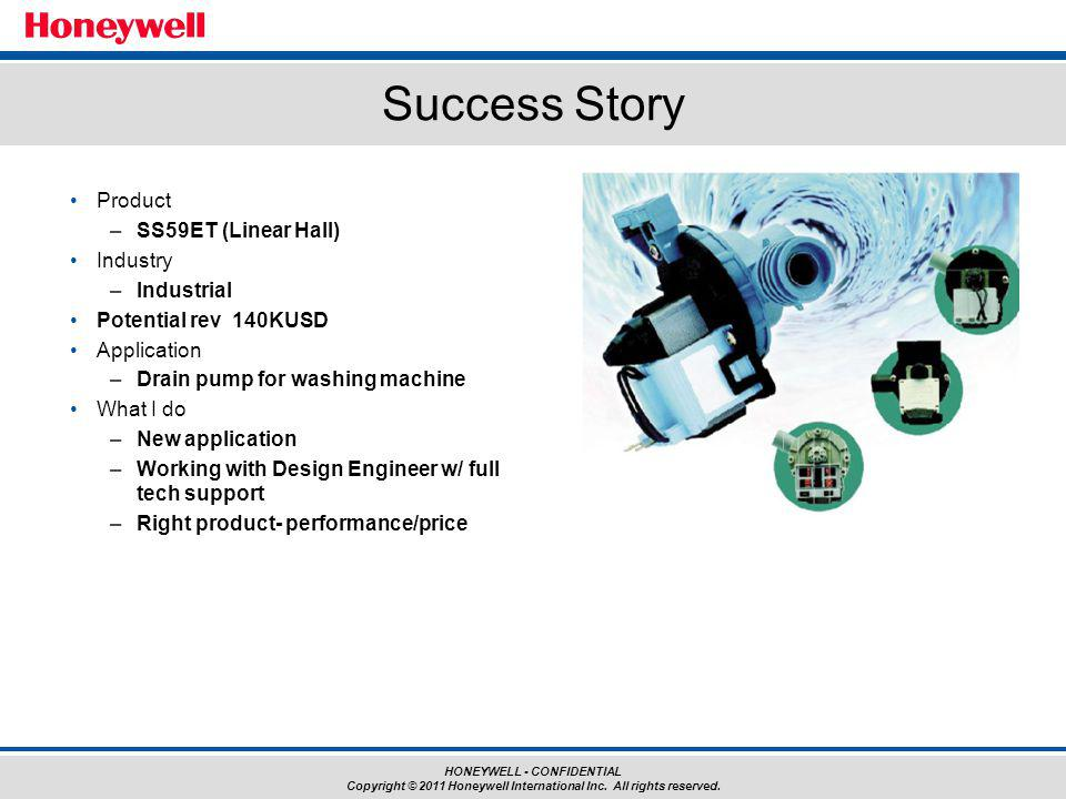 Success Story Product SS59ET (Linear Hall) Industry Industrial