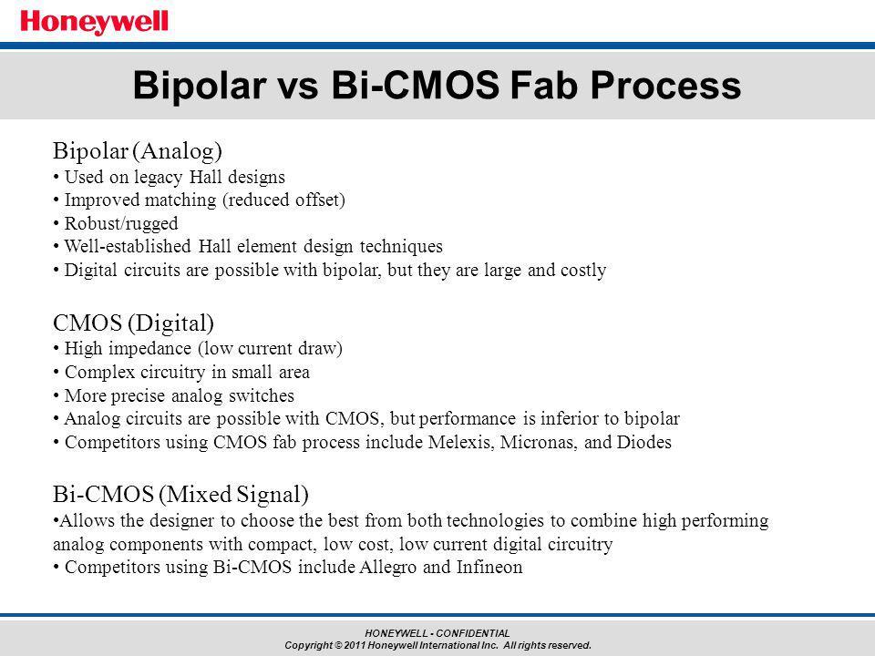 Bipolar vs Bi-CMOS Fab Process