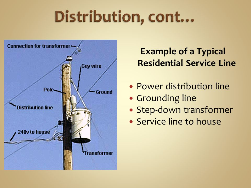 Example of a Typical Residential Service Line