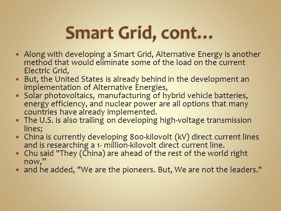 Smart Grid, cont…