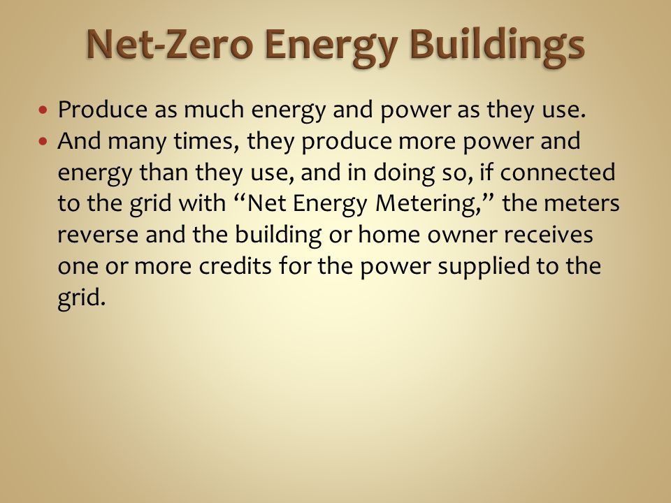 Net-Zero Energy Buildings