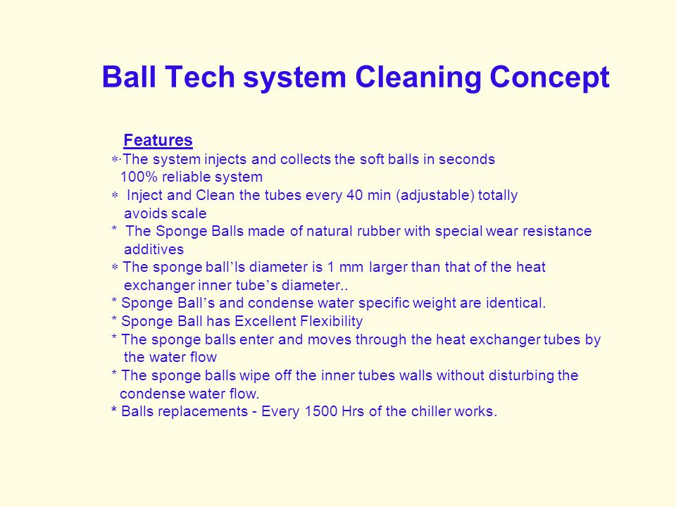 Ball Tech system Cleaning Concept