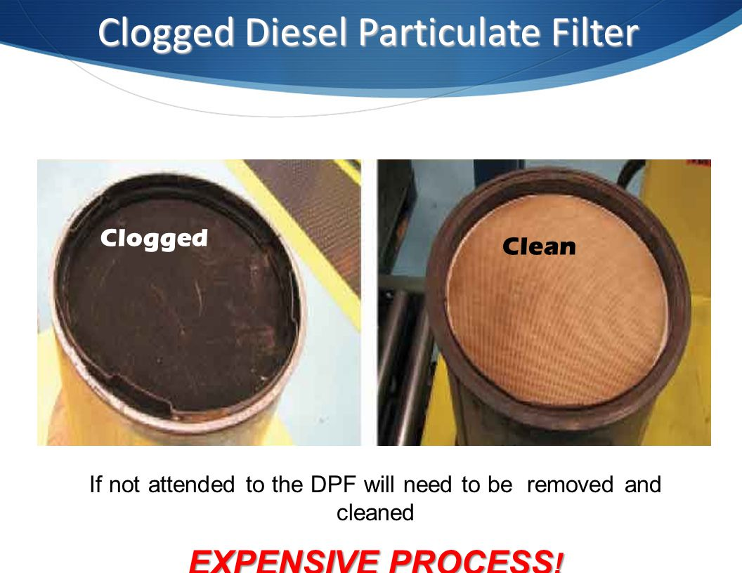 Clogged Diesel Particulate Filter
