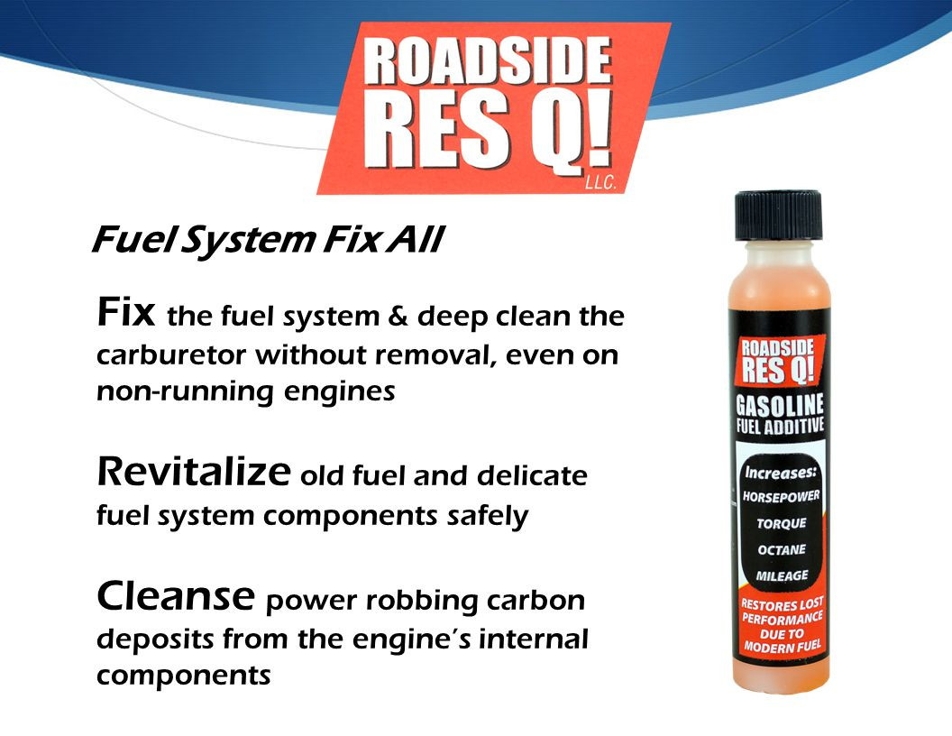 Revitalize old fuel and delicate fuel system components safely