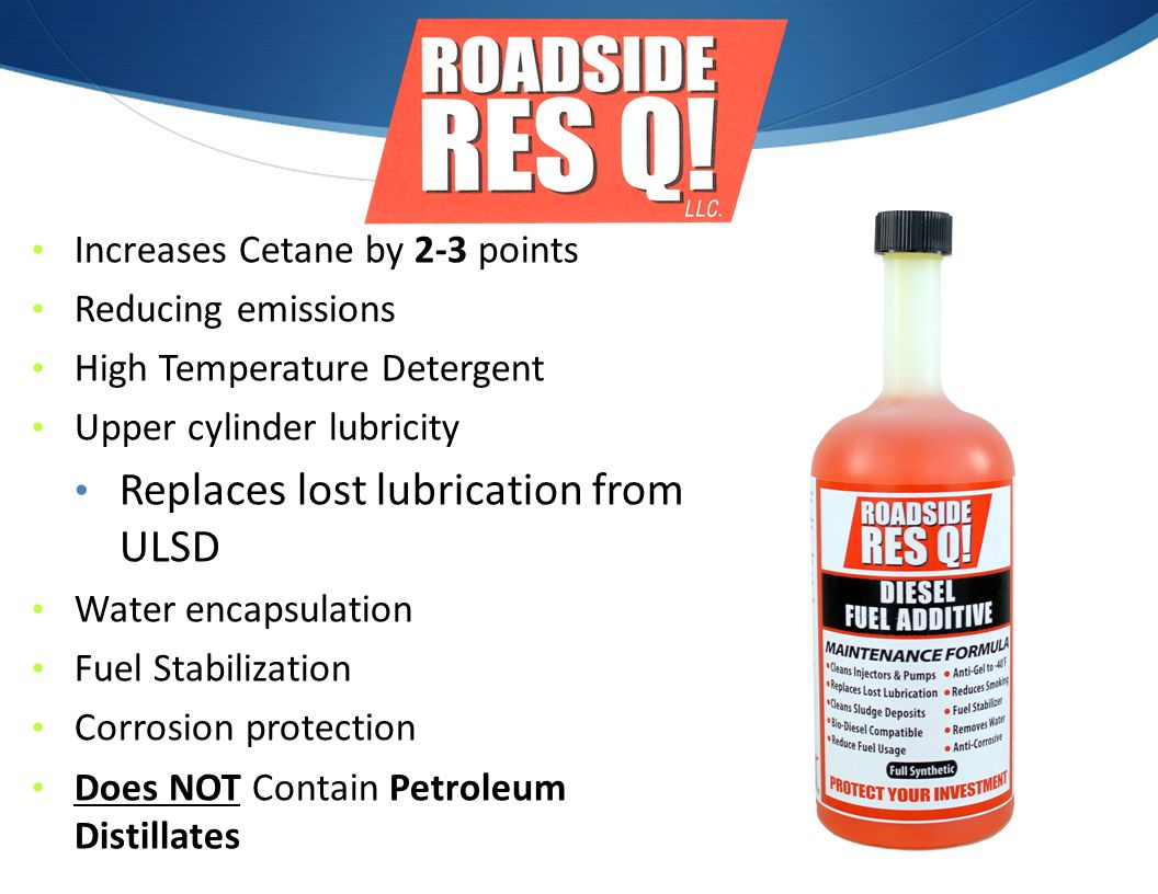 Replaces lost lubrication from ULSD