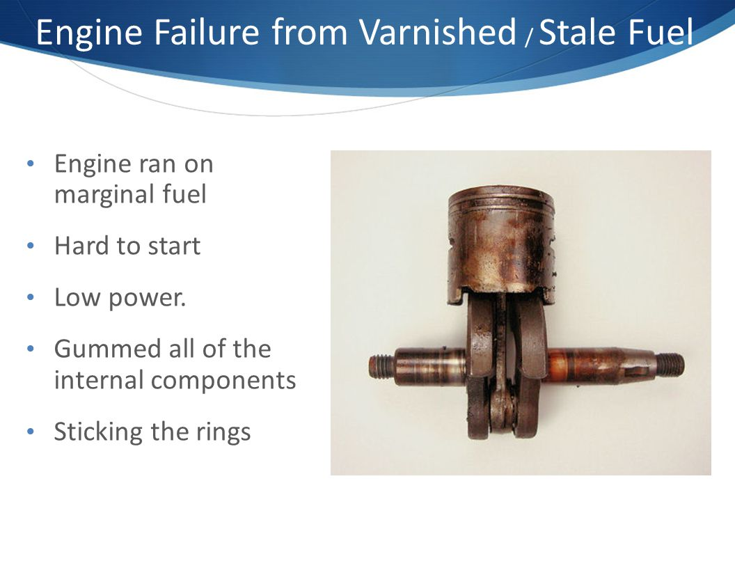 Engine Failure from Varnished / Stale Fuel