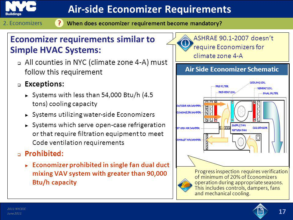 Air-side Economizer Requirements