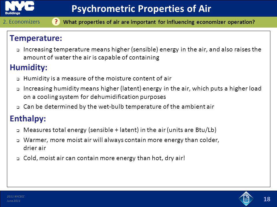Psychrometric Properties of Air