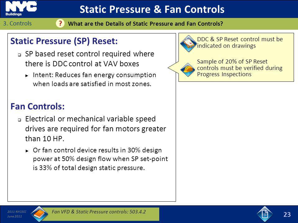 Static Pressure & Fan Controls