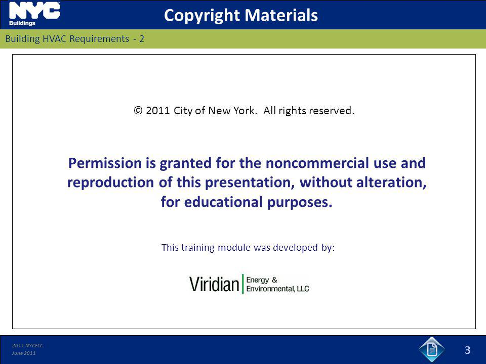 Copyright Materials Building HVAC Requirements - 2.