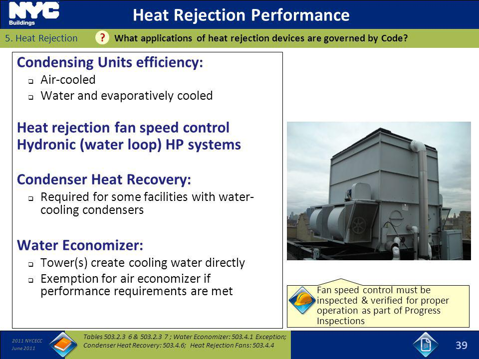 Heat Rejection Performance