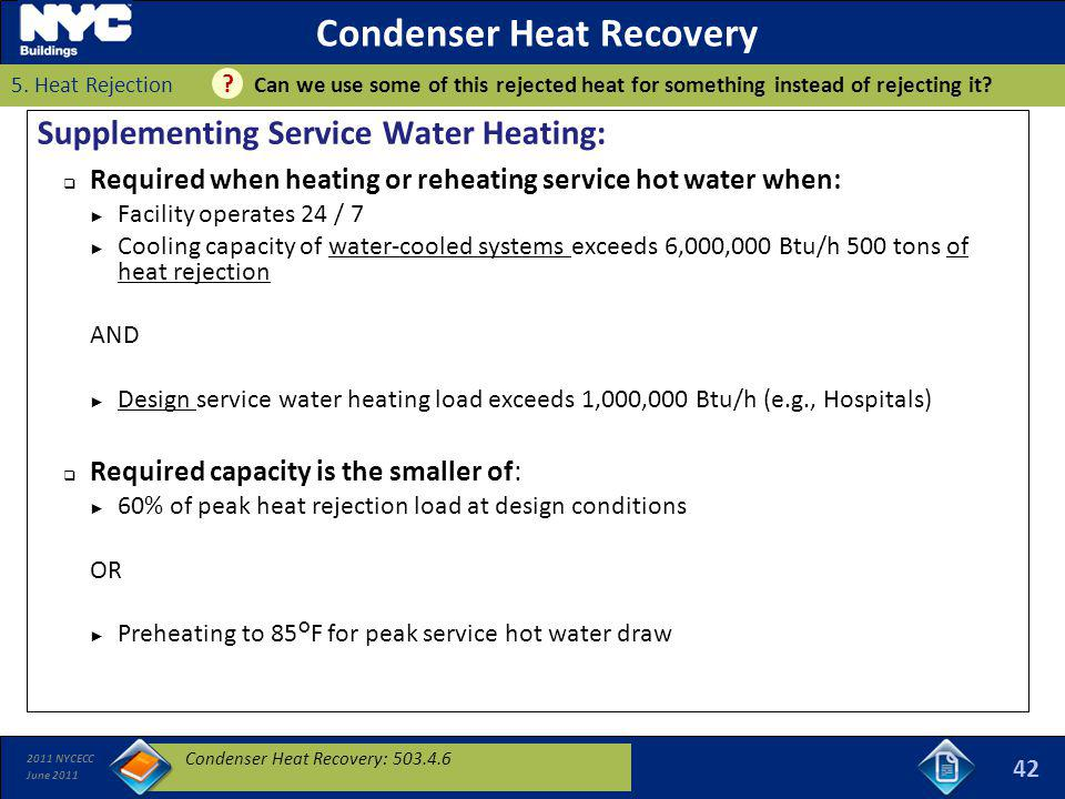Condenser Heat Recovery