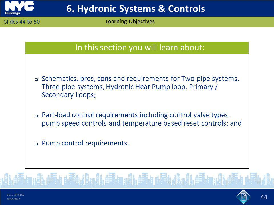 6. Hydronic Systems & Controls
