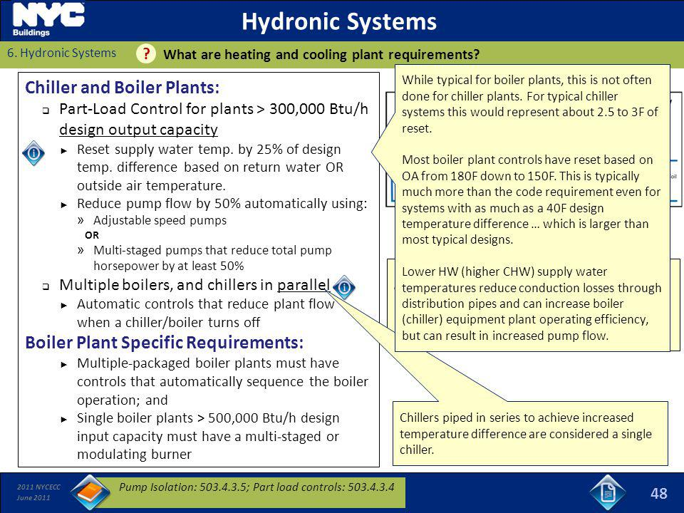 Hydronic Systems Chiller and Boiler Plants: