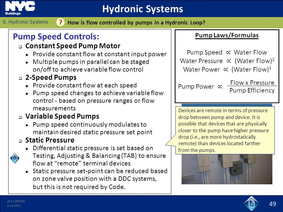 Hydronic Systems Pump Speed Controls: Constant Speed Pump Motor
