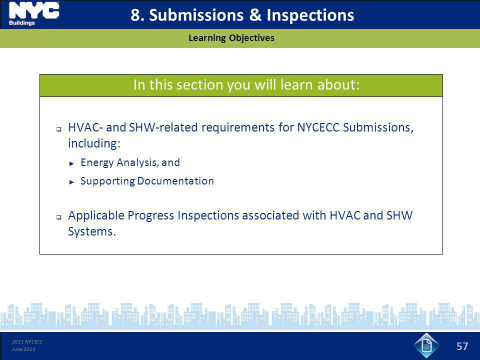 8. Submissions & Inspections